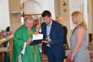Pożegnanie dotychczasowego proboszcza parafii Krajno Ks. Leszka Sztandery